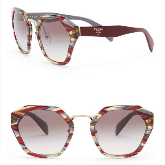 0f84cf0b61e PRADA Irregular Cat Eye Sunglasses